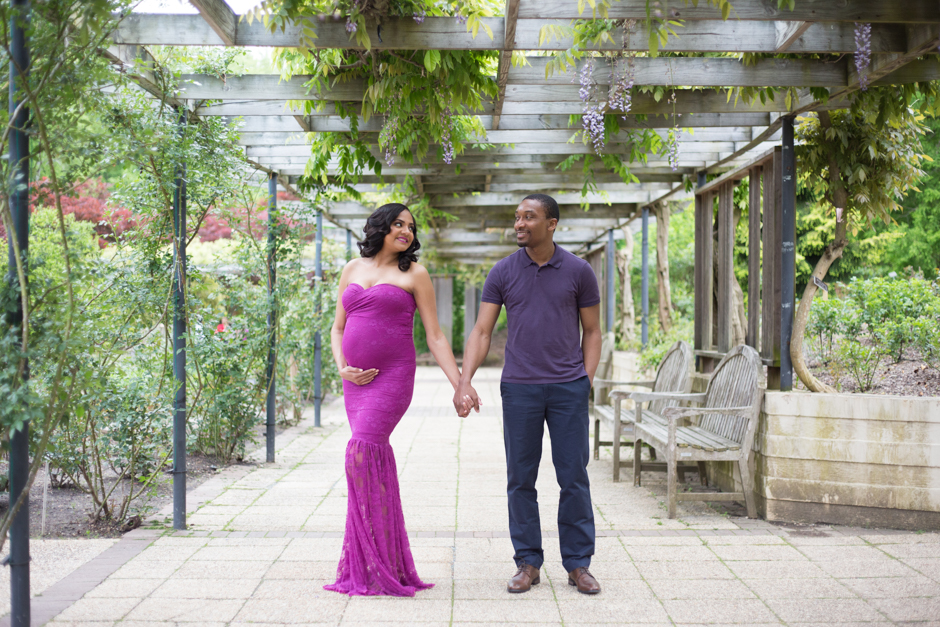 Romantic and elegant maternity photos at Brookside Gardens in Montgomery county by Maryland wedding photography Christa Rae Photography