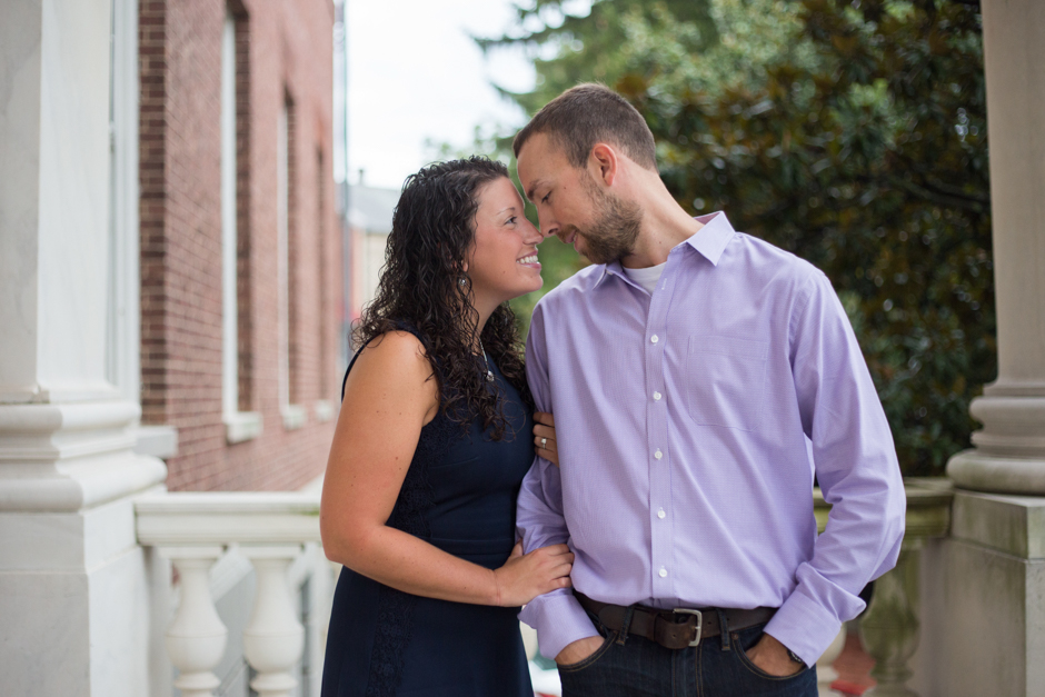 Cloudy day classic downtown Annapolis engagement photos by Maryland wedding photographer Christa Rae Photography