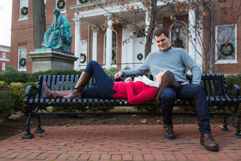 Winter engagement session in Downtown Annapolis by Maryland wedding photographer Christa Rae Photography