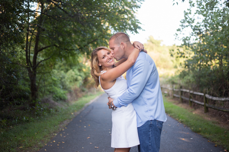 Beach engagement photos at Terrapin Beach Park in Stevensville by Maryland Wedding photographer Christa Rae Photography
