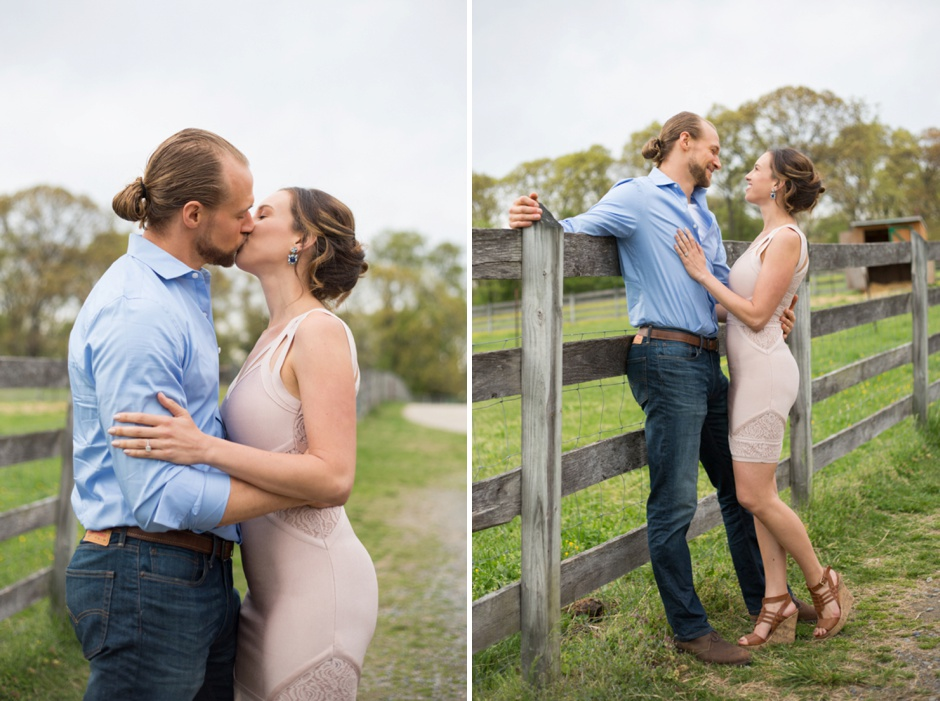 Rustic engagement photos at Kinder Farm Park in Annapolis by Maryland wedding photographer Christa Rae Photography