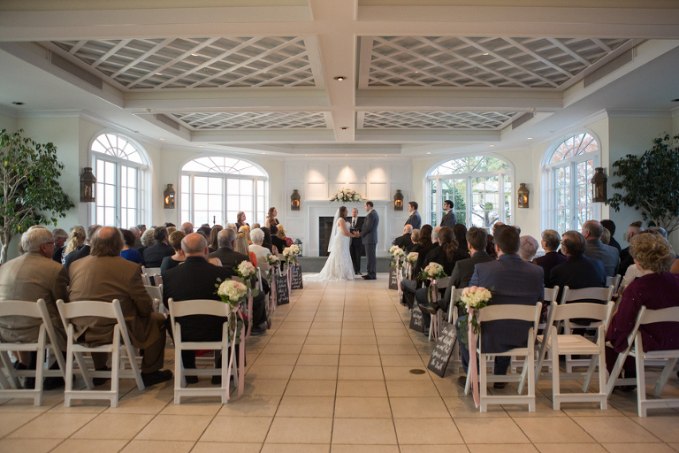 Indoor Fall Wedding At Chesapeake Bay Beach Club In Stevensville By Maryland Photographer Christa Rae